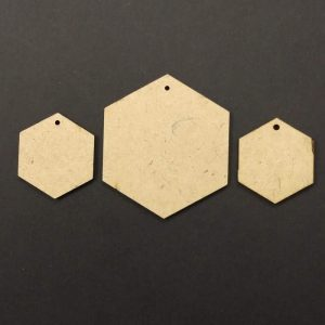 MDF Hexagon With Single Hole