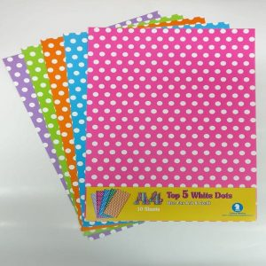 Mixed Colour Polka Dots Pattern Paper