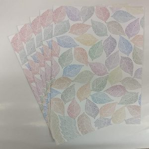 Mixed Colour Leaf Pattern Paper