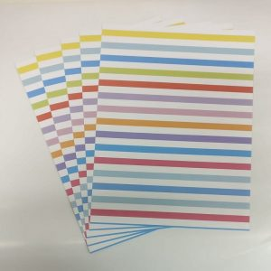 Mixed Colour Lines Pattern Paper