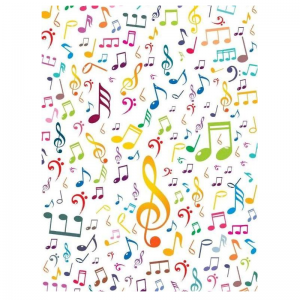 Mixed Colour Musical Notes Pattern Paper