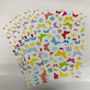 Mixed Colour Butterflies and Flowers Pattern Paper