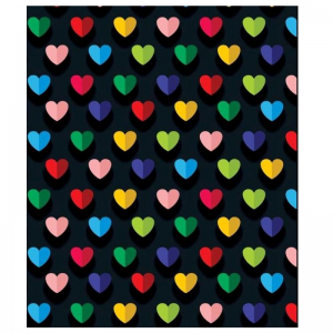 Mixed Colour Hearts Pattern Paper