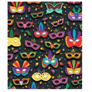 Mixed Colour Mask Pattern Paper