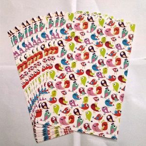 Mixed Colour Birds  Pattern Paper
