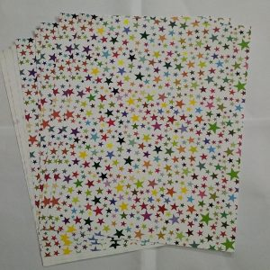 Mixed Colour Stars Pattern Paper