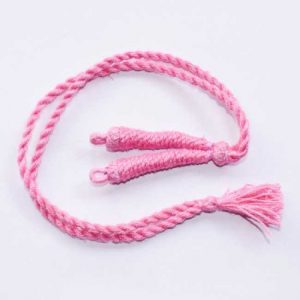 Baby Pink Twisted Cotton Thread Neck Rope