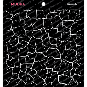 Mudra Stencil - Crackle Fx