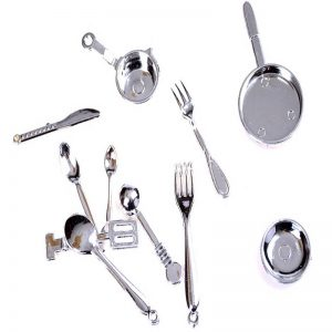 Miniature Kitchen Set Silver