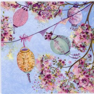 Tree Lantern Decoration Decoupage Napkin