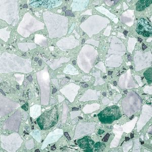 Glitter Stones In Green Decoupage Napkin