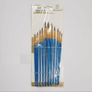 Twelve Set Of  Round Paint Brush