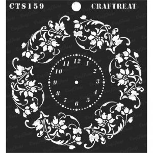 CrafTreat Stencil - Floral Clock