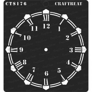 CrafTreat Stencil - Wall Clock