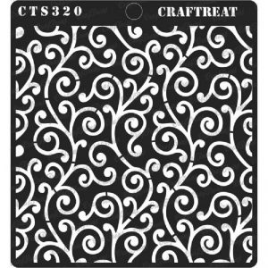 CrafTreat Stencil - Swirly Swirls