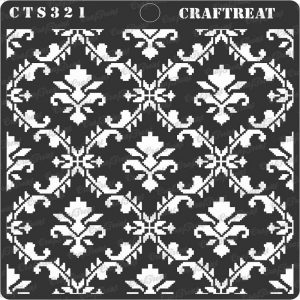 CrafTreat Stencil - Ikat Damask