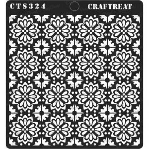 CrafTreat Stencil - Tile Flowers Small