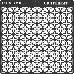 CrafTreat Stencil - Mini Tile Flower