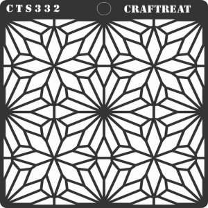 CrafTreat Stencil - Geometric Flowers