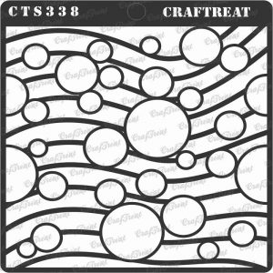 CrafTreat Stencil - Circles on waves
