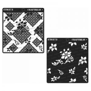 CrafTreat Stencil - Flower Fusion 2 Step