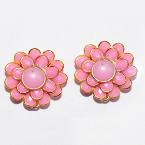 Pink Double Layer Pachi Earrings