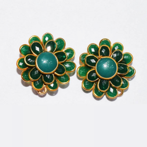 Green Double Layer Pachi Earrings