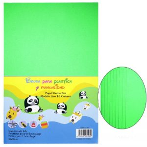 Parrot Green Colour Foam Sheets Pack