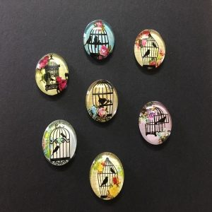 Bird Cage Glass Cabochons