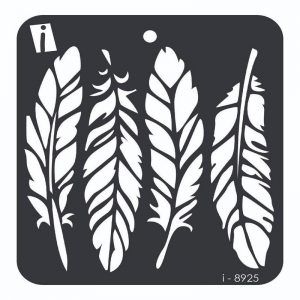 iCraft 4 x 4 Mini Stencil - Feather