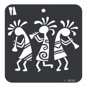 iCraft 4 x 4 Mini Stencil - Dancing Girls