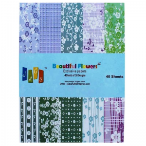 Beautiful Flower Pattern Paper Pack