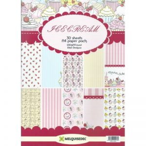 Icecream Pattern Paper Pack