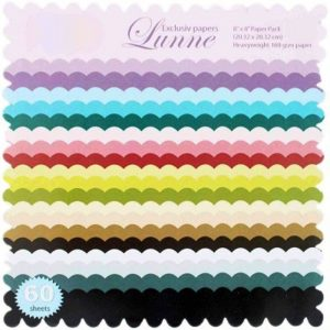 Exclusive Lunne 8x8 Pattern Paper Pack