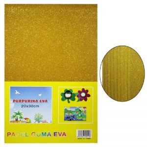 Gold Colour Glitter Foam Sheets Pack