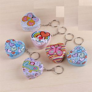 Heart Shape Storage Box With Key Chain