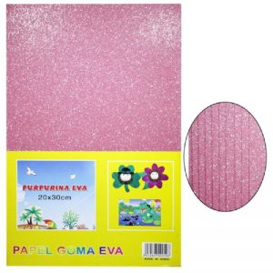 Pink Colour Glitter Foam Sheets Pack