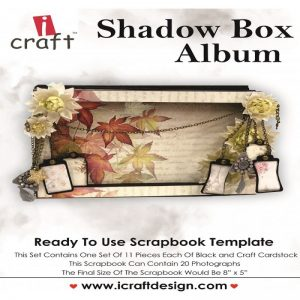 Icraft - Scrapbook Template Shadow Box Album