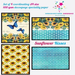 Nakshathra Designz Decoupage Paper - Sunflower Kisses