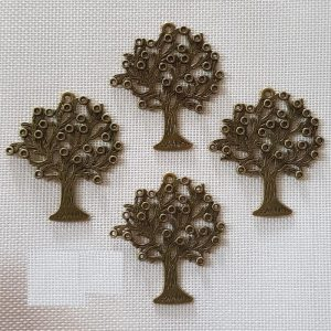 Antique Bronze Tree Charm