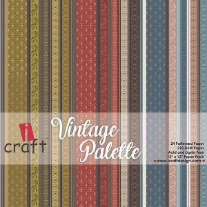 Vintage Palette - Icraft 12 x 12 Paper Pack