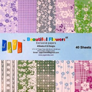 Beautiful Flowers Exclusive Papers 12 x 12 Pattern Paper Pack