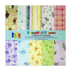 Beautiful Flowers 12 x 12 Pattern Paper Pack