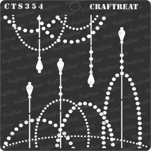 CrafTreat Stencil - String Of Lights