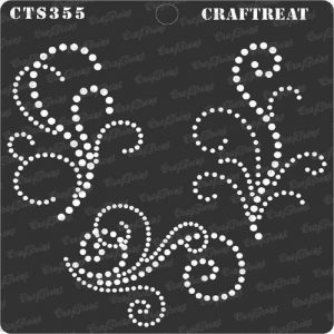 CrafTreat Stencil - Beaded Flourish