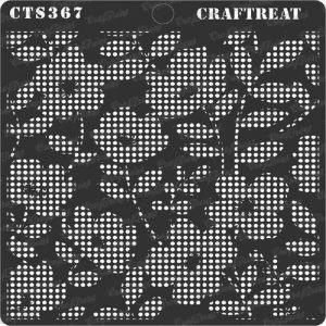 CrafTreat Stencil - Flower Fusion Positive Dots
