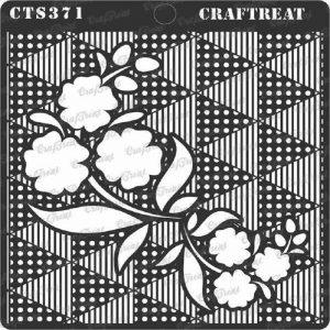 CrafTreat Stencil - Flower Fusion Triangles