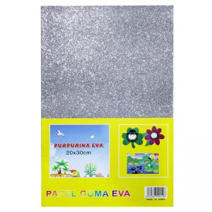 Silver Colour Glitter Foam Sheets Pack