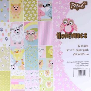 Honey Hugs Papus 12 x 12 Pattern Paper Pack