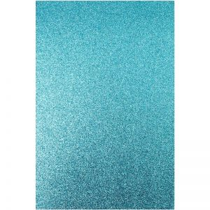 Sky Blue Colour Glitter Foam Sheets Pack